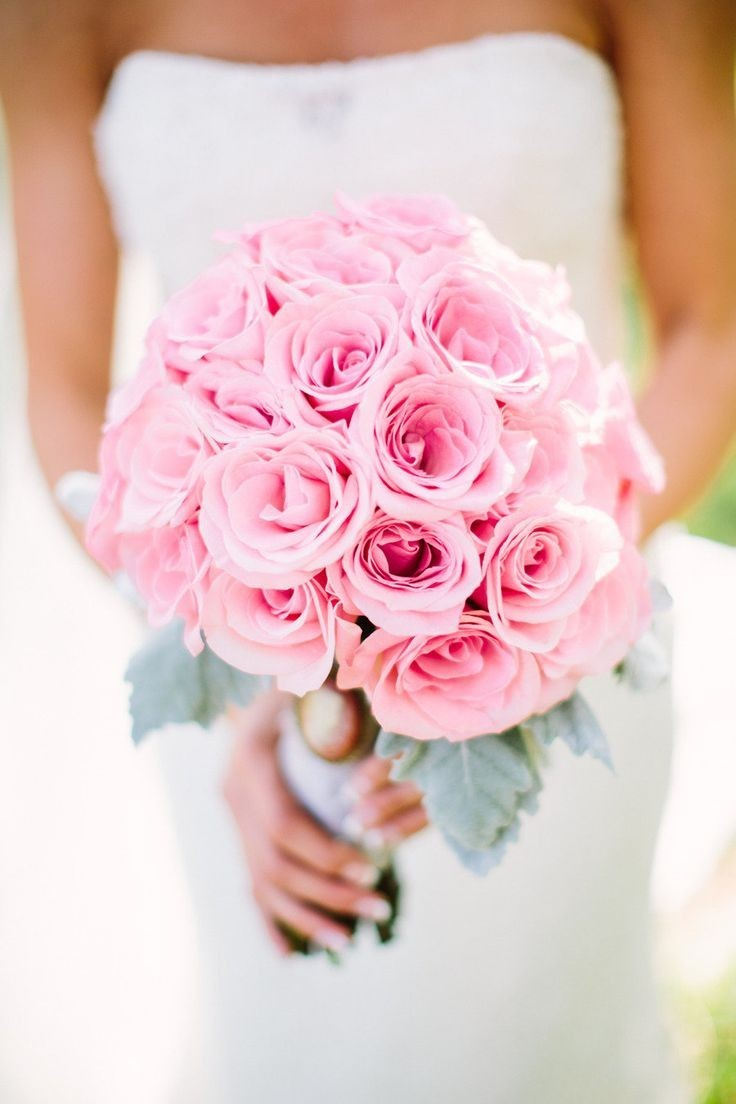 Свадебные букеты из роз