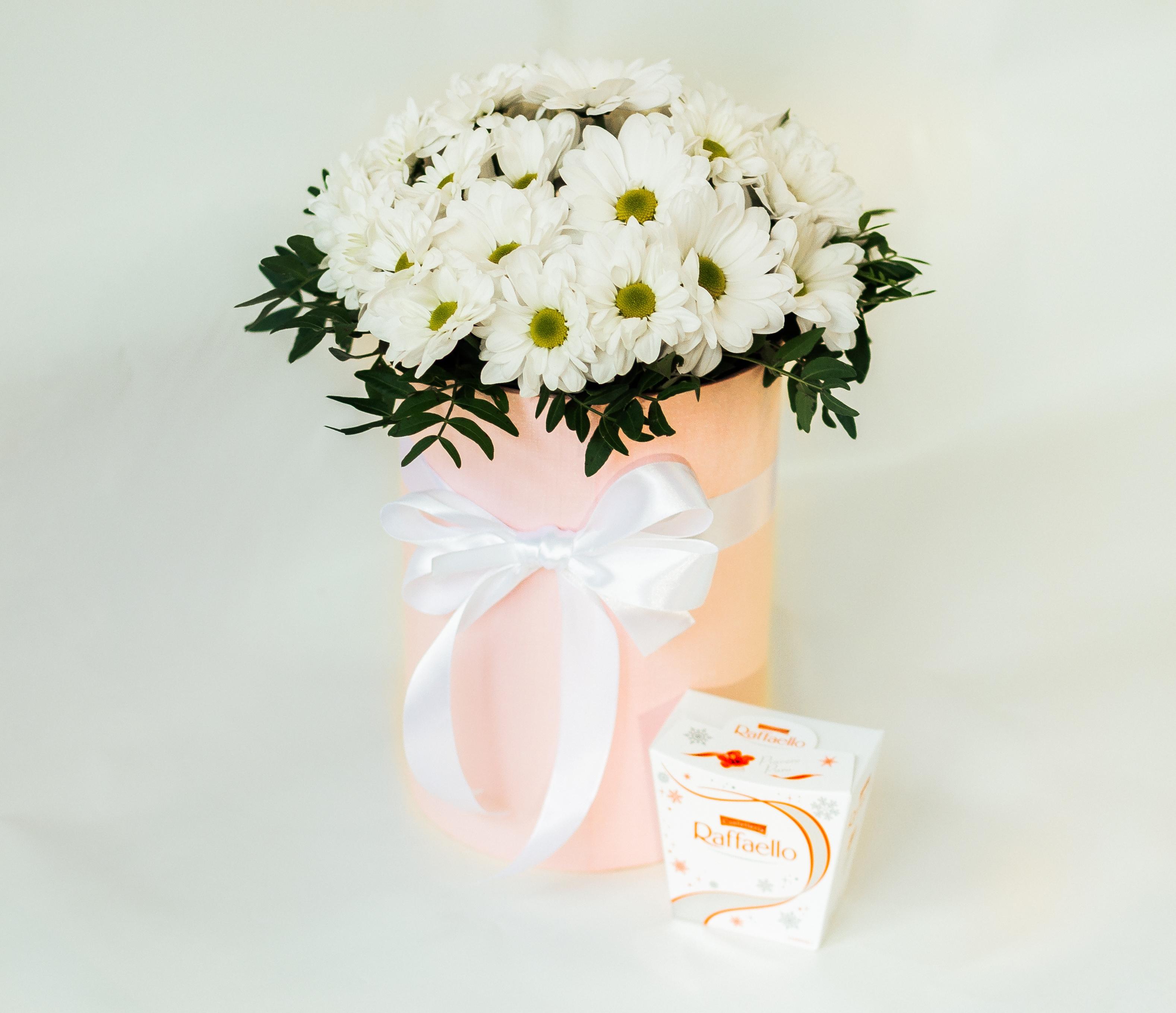 Коробочка из хризантем
