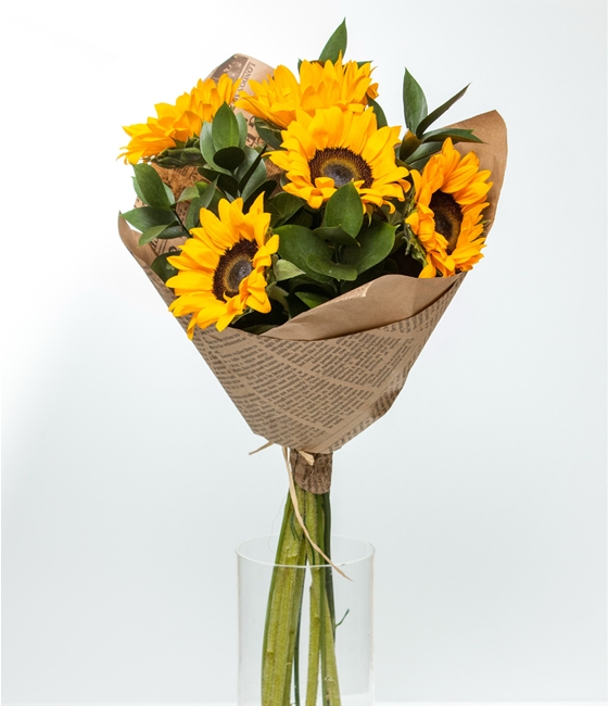 Букеты статица подсолнухов, цветов доставка цветы в ереване