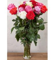 Букет из 21 розы микс